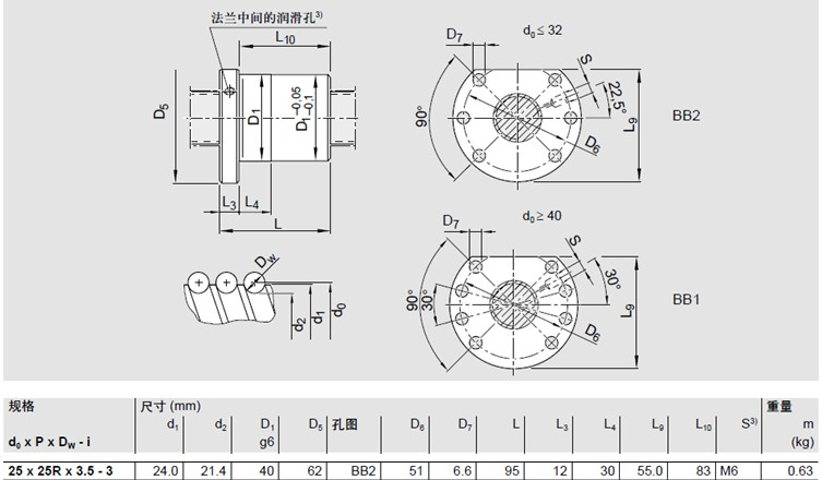 STAR R15022-8065丝杆螺母尺寸图